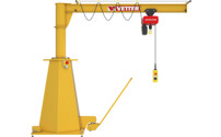 MOBILIUS MOB mobile post mounted jib crane