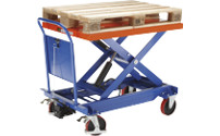Lifting platform trolley with Euro platform