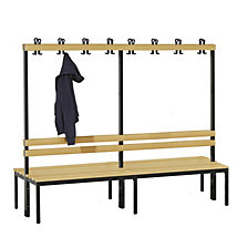 Cloakroom bench, double sided