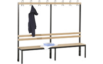Cloakroom bench, single sided