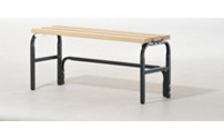 Cloakroom bench without back rest