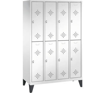 CLASSIC cloakroom locker with feet, double tier