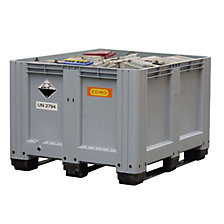 Used battery collection box made of PE