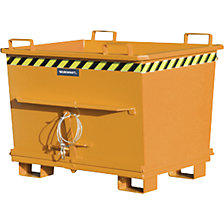 Conical hinged bottom skip