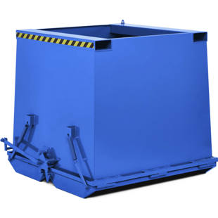 Heavy duty hinged bottom skip