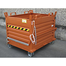 Hinged bottom skip