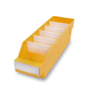 Shelf bin made of highly impact resistant polypropylene