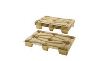 Pallets made of moulded chipboard