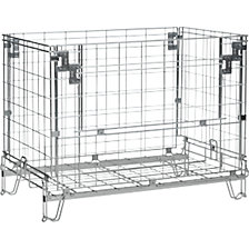 Collapsible mesh pallet