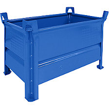 Solid wall stacking container, WxL 500 x 800 mm