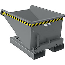 Tilting skip with roll-off mechanism, sheet steel