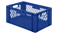 Euro stacking container, perforated walls, closed base