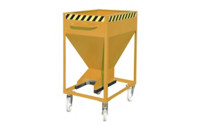 Dispensing hopper, steel profile