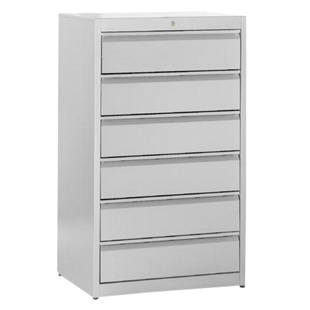 Card file cabinet, grip rails