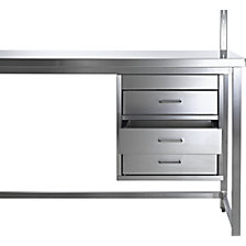 Suspended drawer unit