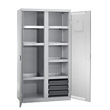 Environmental cupboard with door perforations