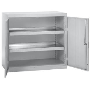 Environmental cupboard without door perforations