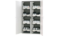 Full height safety cupboard for acids and alkalis