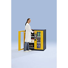 Laboratory chemical storage cupboard