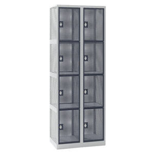 Perforated sheet metal locker