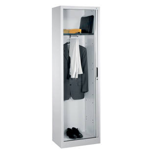 Wardrobe with horizontal roller shutter