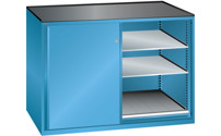 Sliding door cupboard, max. load of pull-out shelf 75 kg