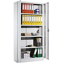 Universal steel cupboard with hinged doors