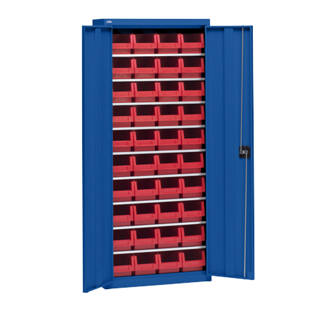 Storage cupboard with storage boxes