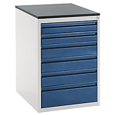 Drawer cupboard with telescopic guides