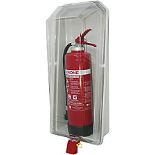Fire extinguisher box, transparent