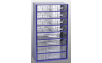 Drawer cabinet, transparent drawers