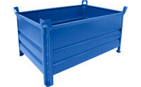 Solid wall stacking container, WxL 800 x 1200 mm