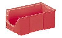 FUTURA open fronted storage bin made of polyethylene