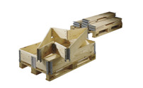 Wooden pallet collar for Euro pallet size