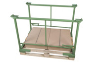Clamp-on stacking frame