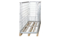 Mesh stacking frame for EURO pallet
