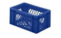 Euro stacking container, perforated walls and base