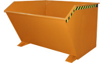 Tilting skip, low profile