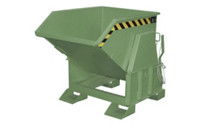 Tilting skip, standard overall height, without wheels