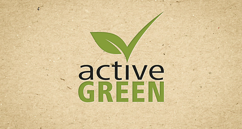 Products that we manufacture in a particularly environmentally friendly way are marked with the active green label