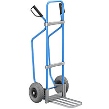 GO sack truck with runners, blue