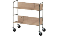 File trolley, chrome plated