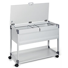 Suspension file trolley with cover