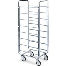 ESD tray and crate trolley
