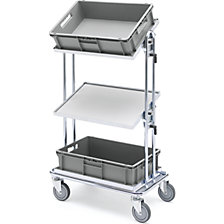 Order picking trolley, zinc plated