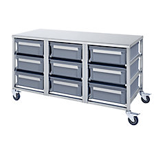 Stainless steel container trolley