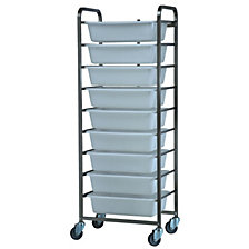 Stainless steel ingredients trolley