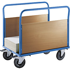 Platform truck with wooden panels