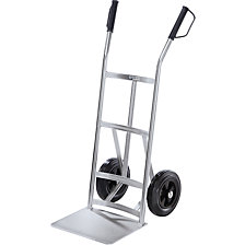 Premium sack truck made of steel, zinc plated