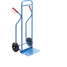 Premium sack truck with wire mesh rear panel